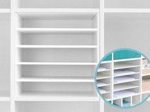 Papier Fach / Einsatz für Ikea Expedi Regal (weiß)