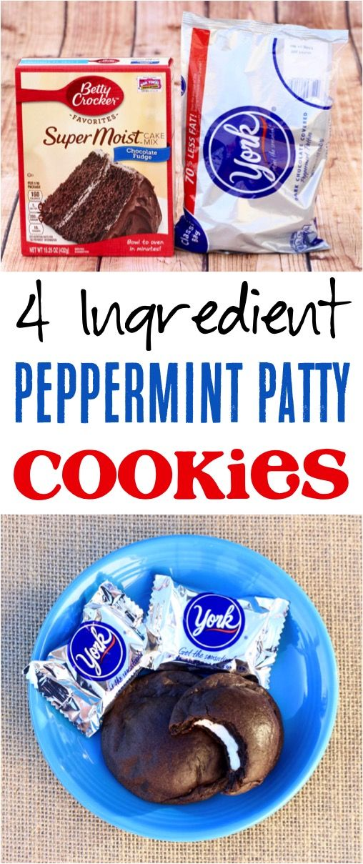 Peppermint Cookies Recipe!  The best chocolate Christmas dessert for your winter parties!