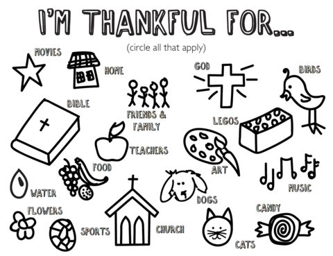 Free Thankful Coloring Page
