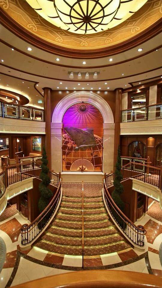 Beautiful Lobby on Cunards Queen Victoria Cruise Ship