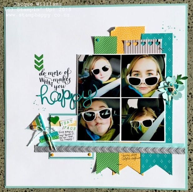 stampin up cherry on top scrapbooking layout by the awesome Jacque Williams