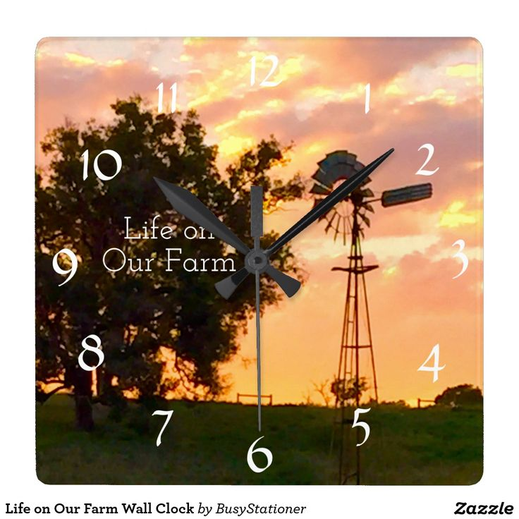 Life on Our Farm Wall Clock