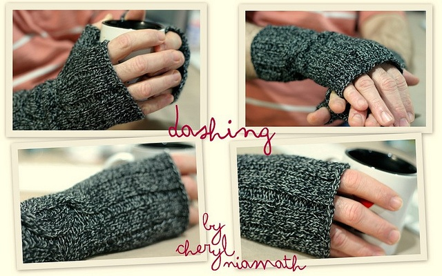 Dashing by Cheryl Niamath  Fingers gloves to keep hands toasty :)    Yarn | Patons Australia Classic Totem 8ply