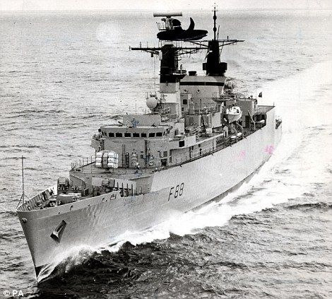 H.M.S. Broadsword, Frigate - Type 22 Frigate of the Royal Navy.
