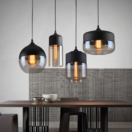 Brief Contemporary Hanging Glass Pendant Lamp Lights Fixtures LED ...