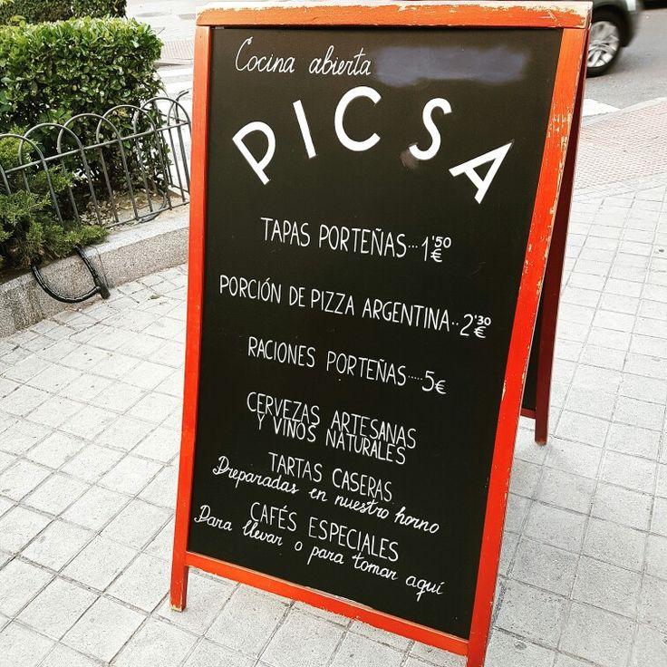 #cenandoconangela tomando algo en Picsa del grupo Sudestada en la calle Ponzano #restaurantesmadrid #restaurantesdemadrid