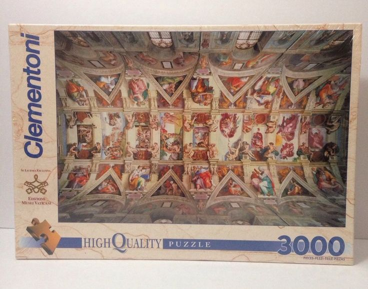 NEW Sealed Clementoni Sistine Chapel Ceiling Puzzle 3000 Pieces High Quality  | eBay