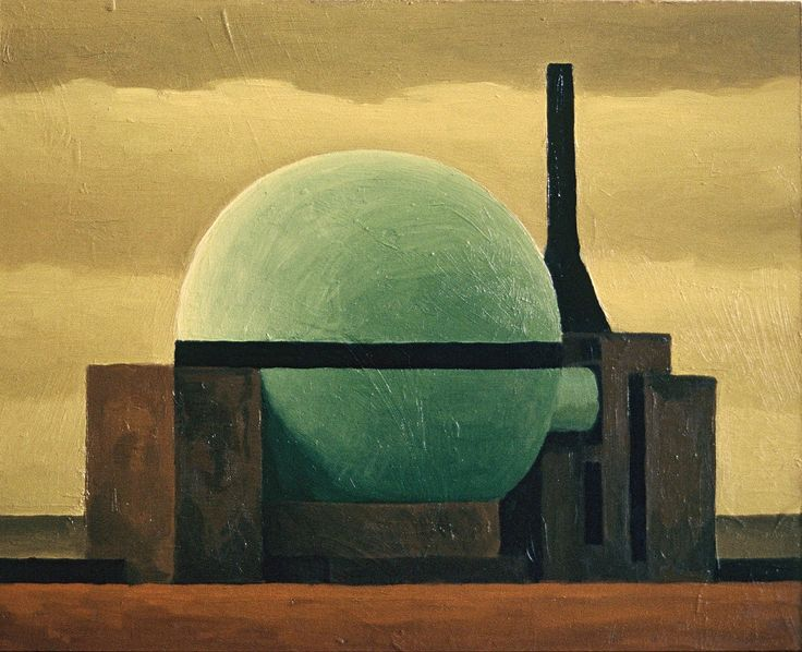 Dounrey Nuclear Power Station (Yellow Sky) by Renny Tait