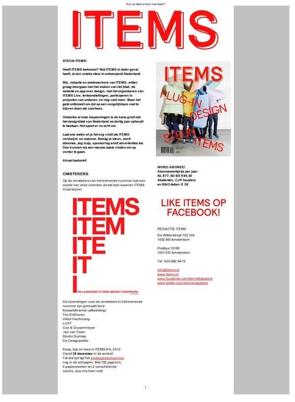 Tijdschrift Items