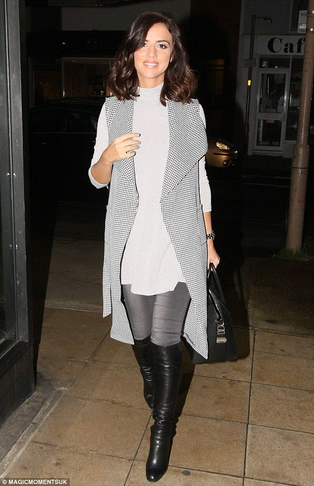 Fashion lover! Lucy Mecklenburghcut a relatively stylish figure when she emerged from her...