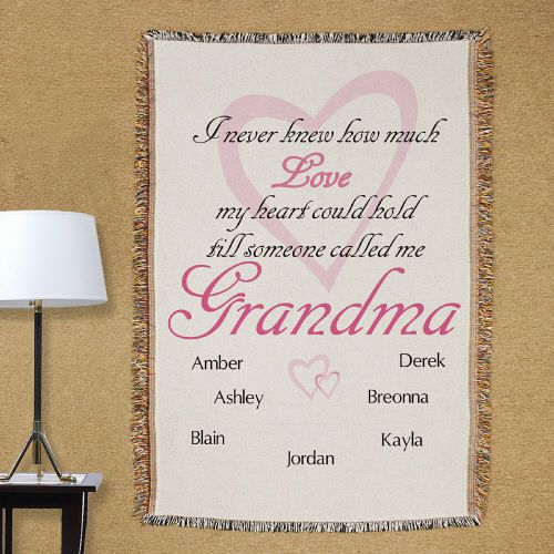 Personalized Throw Blanket for Grandma | Personalized Throw Blanket for Her
