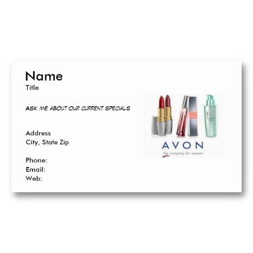 20 best images about Order Avon Business Cards on