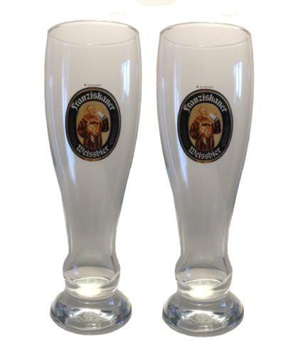 Franziskaner-2-bicchieri-di-birra-da-0-5-LITRI-grano-NUOVO