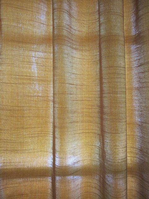 Brown Silk Curtain, Copper Silk Curtain 56 wide x …