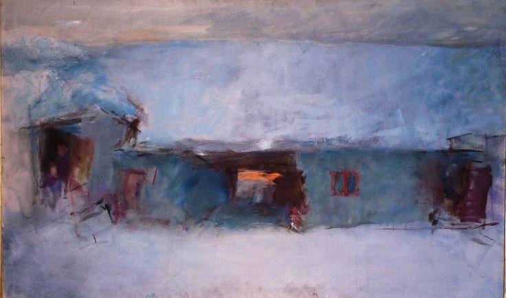 Udstilling. Kunst. Vejle Kunstmuseum. Oluf Høst. Vintereftermiddag. 1951. 270814 IMH