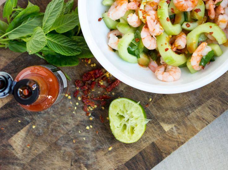 Shrimp-Gurken-Salat