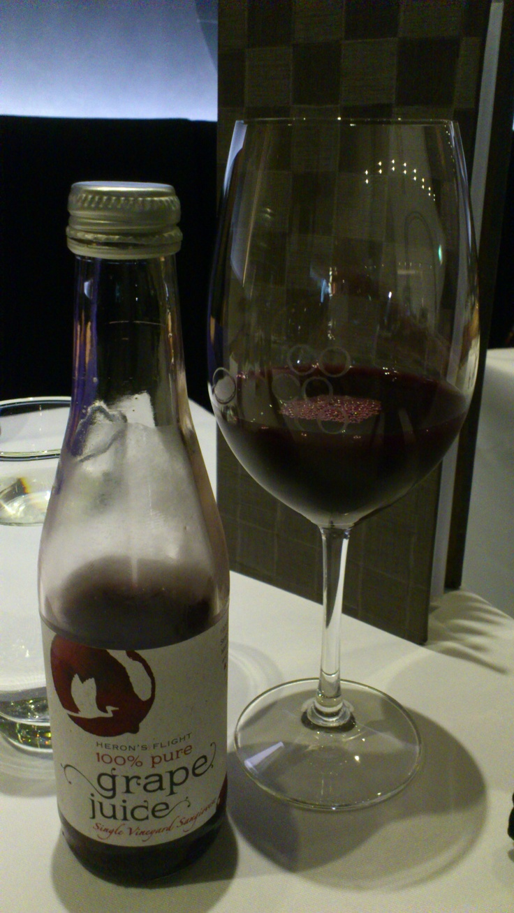 Heron Flight 100% Grape Juice, Cocoro Japanese Restaurant, Ponsonby, Auckland, New Zealand