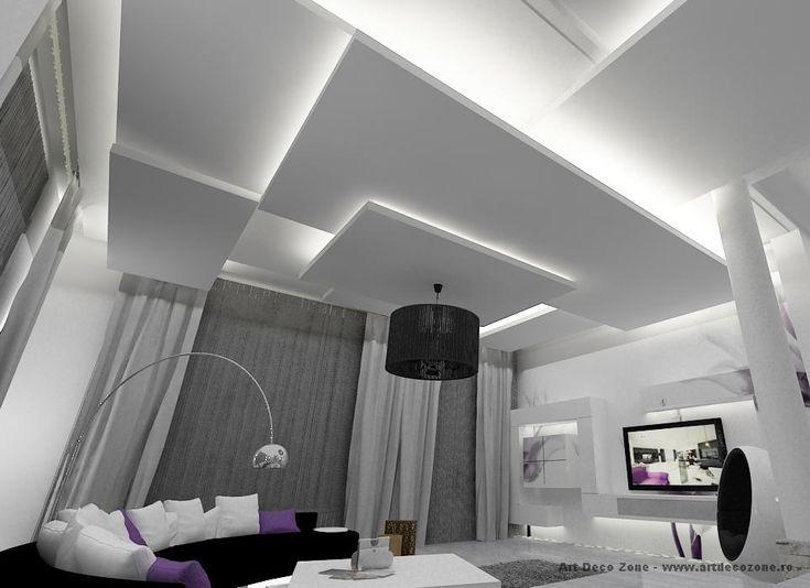 Priveste tavanul! Ai vazut vreo amenajare mai inspirata pentru un tavan? Amenajare vila Cernica - Familia C. - Art Deco Zone & Knox Design - Amenajari interioare Bucuresti. www.artdecozone.ro, #decortavan, #amenajarinterioare, #corpiluminat, #decoralb