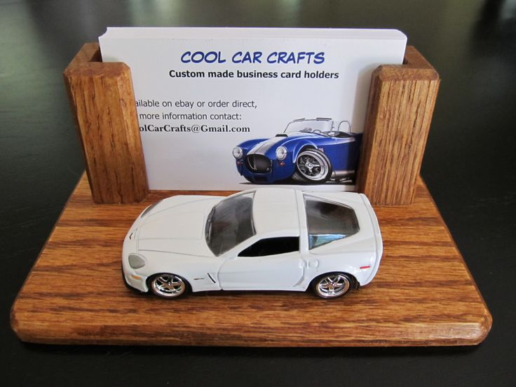 2012 Corvette Z06 - Oak wood business card holder desk sales display w/ die cast car auto by CoolCarCrafts on Etsy https://www.etsy.com/listing/242525983/2012-corvette-z06-oak-wood-business-card