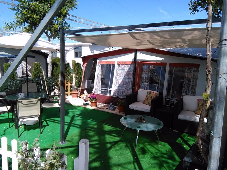 Hobby Caravan & Awning For Sale On Camping Almafra Caravan Park In Benidorm, Costa Blanca, Spain. This 2 berth Caravan is sited on a large fenced private pitch, in a quiet location, near to the…