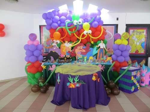 Fiesta de la sirenita ariel decoracion buscar con google for Buscar decoraciones