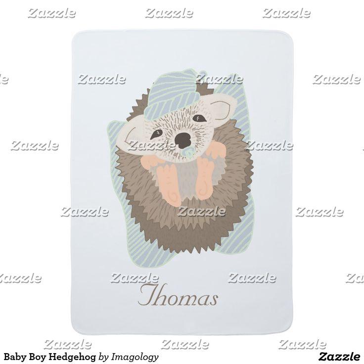 Baby Boy Hedgehog Swaddle Blanket