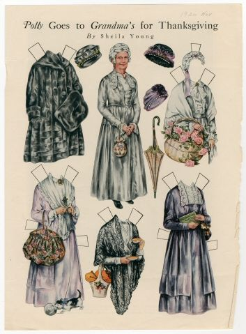 86.3053: Polly Goes to Grandma's for Thanksgiving | paper doll | Paper Dolls | Dolls | National Museum of Play Online Collections | The Strong