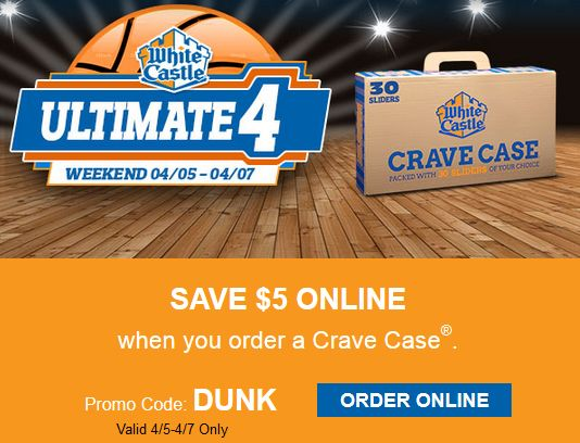 WHITE CASTLE $$ Reminder: Save $5 When You Order a Crave Case Online – Last Day (4/7)!