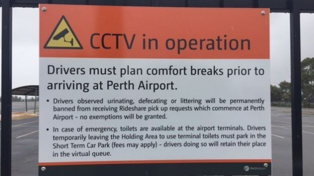 Uber driver banned from Perth Airport after public defecation