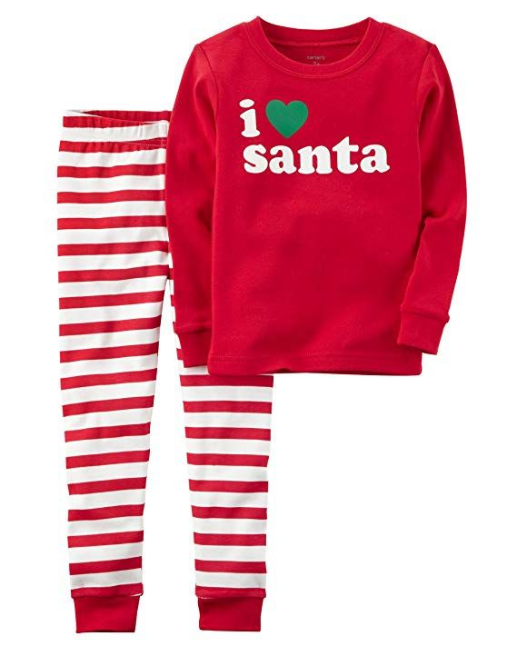 b5cc404bb597 Carter s Carters Baby Unisex Holiday 2-Piece Santa Snug Fit Cotto ...