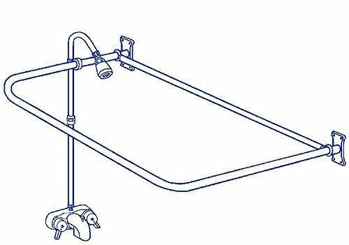 Clawfoot Tub RX2300J-JUMBO Add-A-Shower Includes 60\