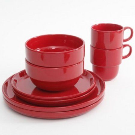 "Ceramic Oval Bowls Plates Mugs 8 Dinnerware Serving Red Set.This Ceramic Oval Bowls Plates Mugs 8 Dinnerware Serving Red Set Includes 2 of each : *10.5"" Dinner plates*8.5"" Dessert plates*5.75"" Bowls*13 oz Mugs Dishwasher, microwave and oven safe.**FDA Approved Item Dimensions: 10.50"" x 9.75"" x 7.00""Item Weight: 4.64lbs"