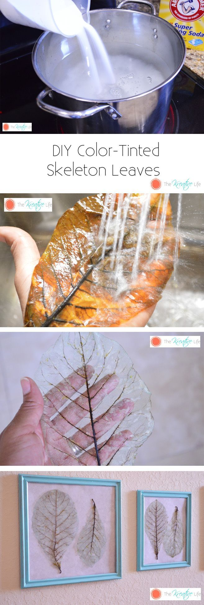 Loving this DIY project for autumn. One more way to enjoy those lovely leaves.