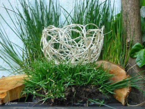 Schale aus Paketschnur / Bowl made of cord / Upcycling