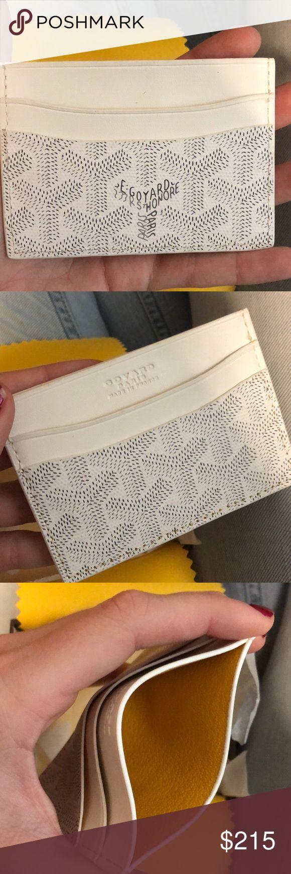 Goyard white wallet card holder leather Goyard wallet. In excellent condition. Goyard Accessories Key & Card Holders