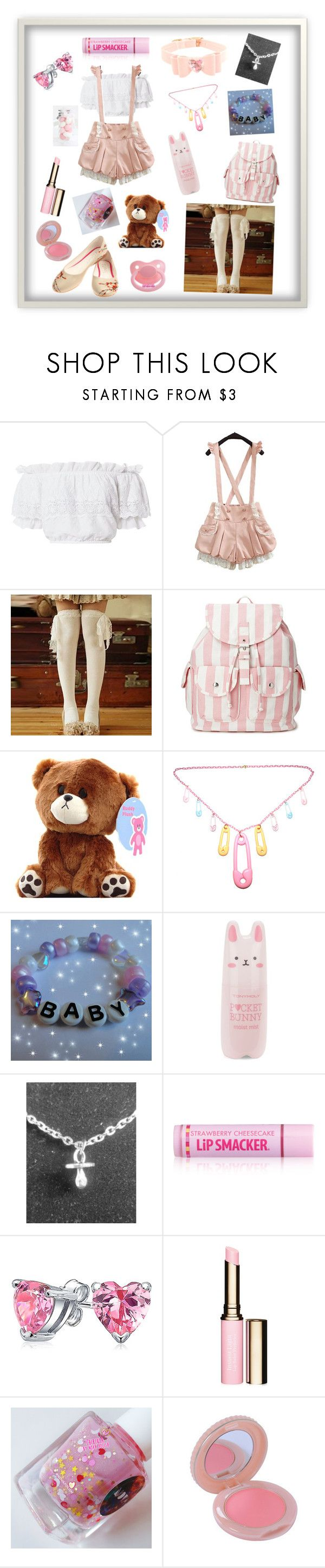 """Kawaii Little"" by redd23 ❤ liked on Polyvore featuring LoveShackFancy, Moriville, Forever 21, Tony Moly, Venom, Bling Jewelry, Clarins and Paul & Joe"