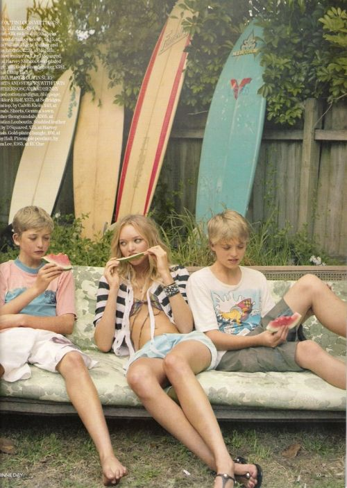 .Corinne Day, Summer Vacations, Endless Summer, Summer Day, Vintage Summer, Gemma Ward, Watermelon, Surf, Beach Life