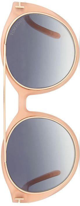 TOM FORD Joan Two-Tone Aviator Sunglasses Pink/Gold   LOLO     ᘡղbᘠ