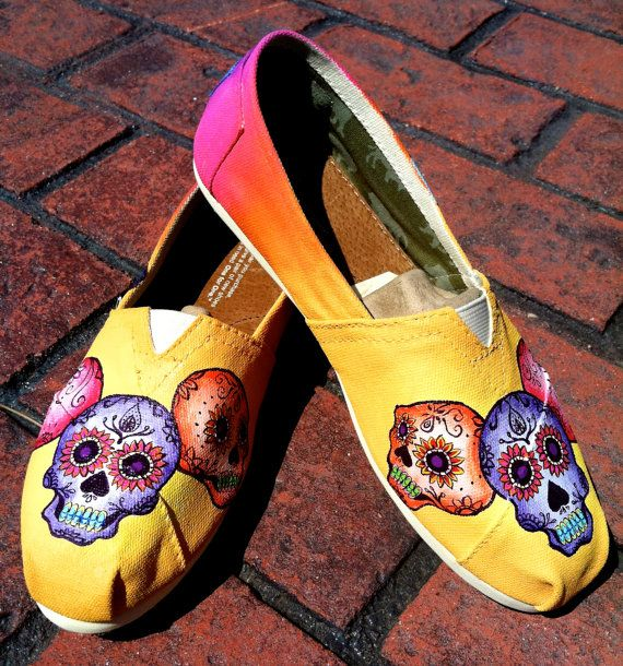 Made to Order Custom Painted TOMS Triple Sugar by TheMermaidsChest