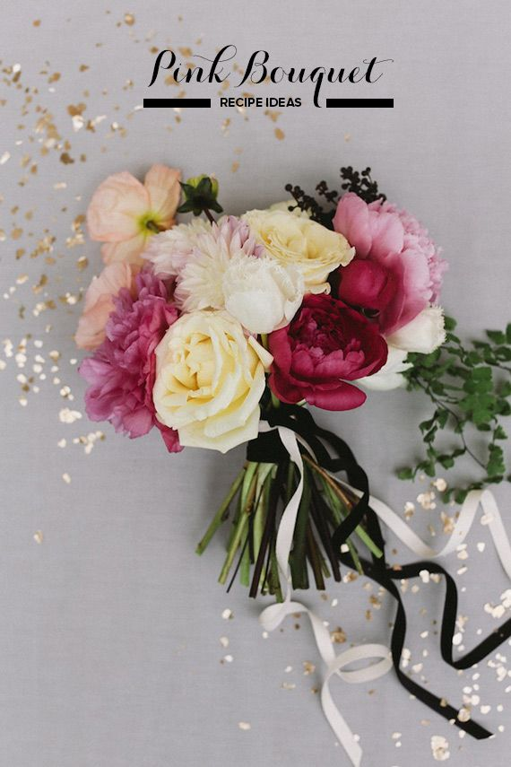 Simple pink bouquet recipe | Photo by Feather and Twine Photography | http://www.100layercake.com/blog/?p=73831