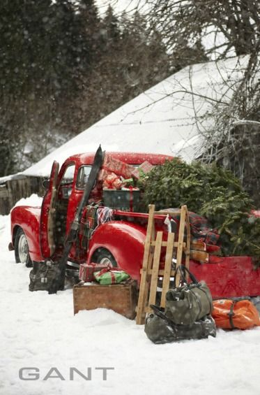 : Christmas Time, Vintage Christmas, Pickup Trucks, Christmas Decoration, Holidays, Country Christmas, Red Trucks, Christmas Trees, Merry Christmas