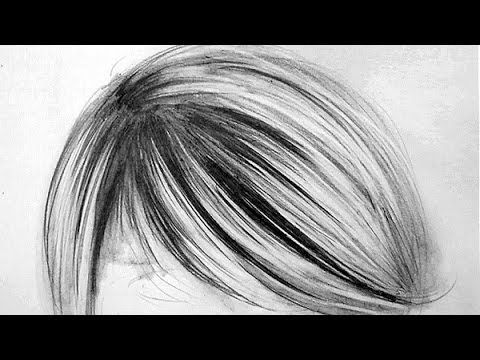 How To Draw Realistic Hair - 3 Easy Steps  (Best realistic hair tutorial I've seen! And I've seen alot of them!) this is how I draw hair for my portraits, but I had to figure it out for myself ;)