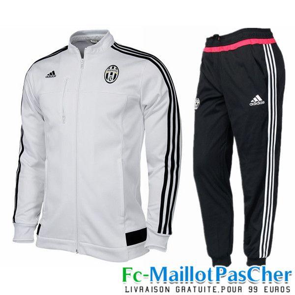Nouveau Veste de foot Juventus Blanc N98 Homme 15 2016 2017 pas cher - 52c30d313a79
