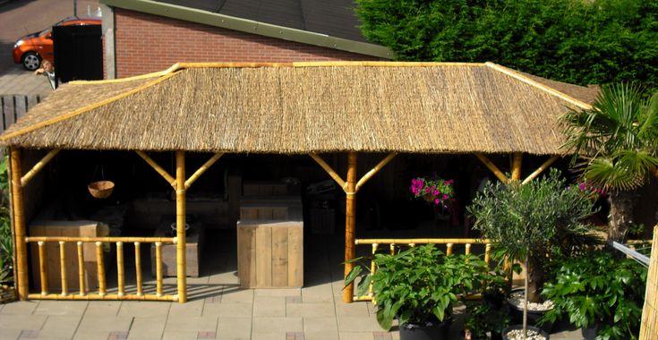Bamboe en riet. Ook toepasbaar voor een mooie tuinkamer