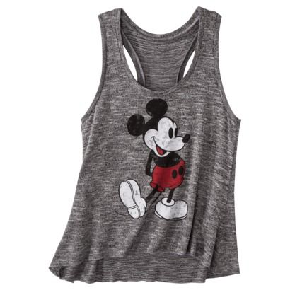 License Juniors Mickey Mouse Graphic Sweater Tank - Asphalt Gray