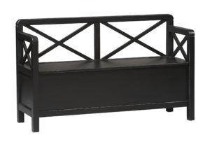 Linon Storage Bench Black