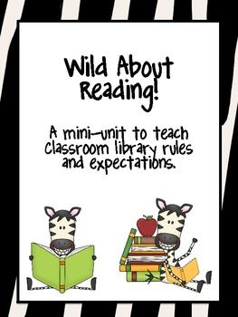 teaching expectations in the classroom library! $