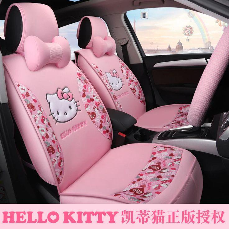 Fashion HELLO KITTY Fundas Coche Asiento Universal Car