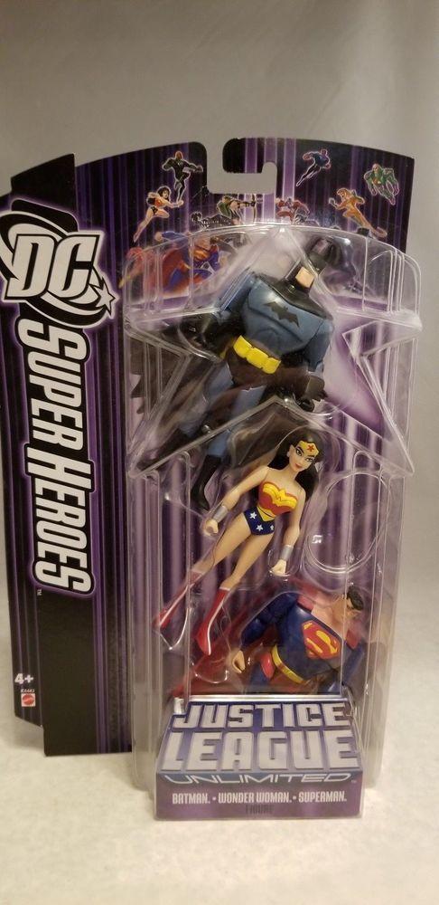 2007 JUSTICE LEAGUE UNLIMITED BATMAN,WONDER WOMAN,SUPERMAN 3 PACK    eBay
