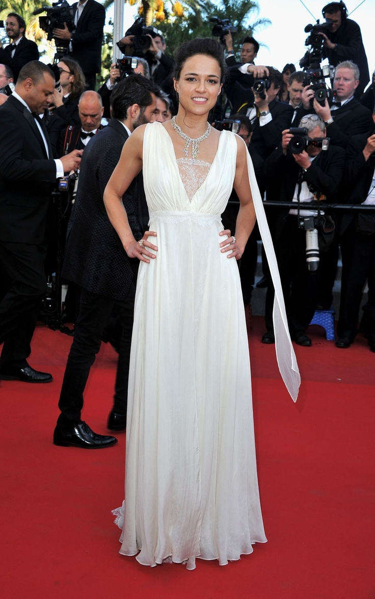 Michelle Rodrigues, Cannes  Gorgeous Grecian dress
